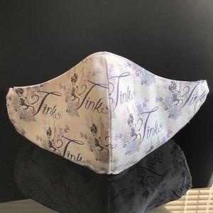 Accessories - 100% Cotton Fabric Disney Tinkerbell Print 😷